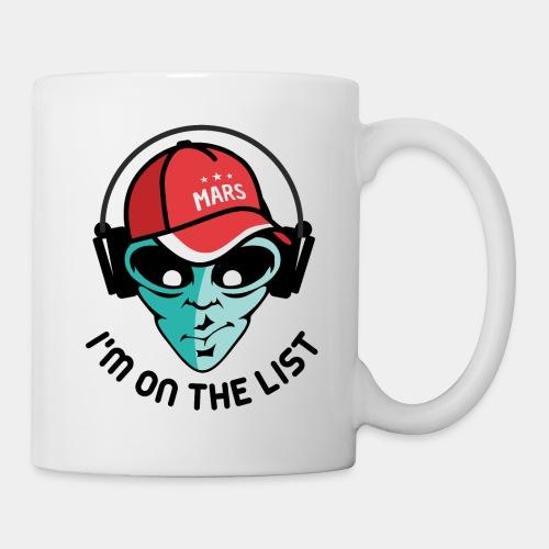 alien visiting guest list - Coffee/Tea Mug