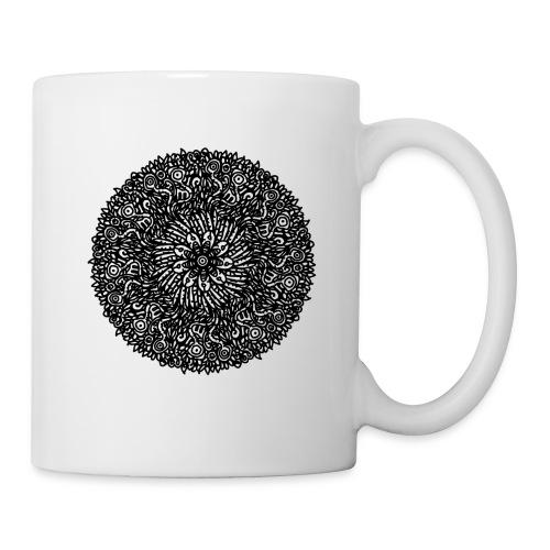 Organic Macrocosm Mandala - Black Ink - Coffee/Tea Mug