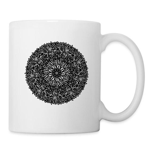 Organic Macrocosm Mandala - Black Ink