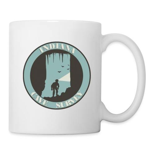 Indiana Cave Survey Logo v1 - Coffee/Tea Mug
