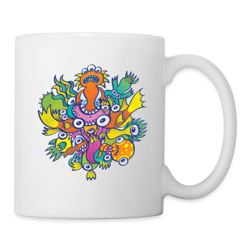 Don't let this evil monster gobble our friend - Coffee/Tea Mug