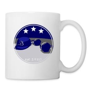 SB Logo Hat and Headphones Posterized - Coffee/Tea Mug