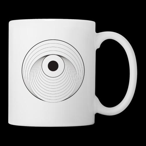 Black Dirt Vortex Logo Light - Coffee/Tea Mug