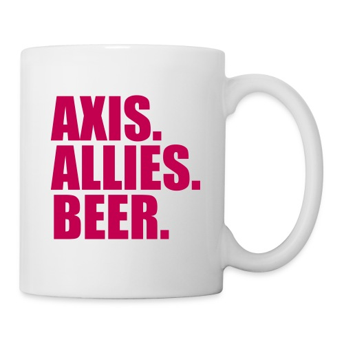 Axis. Allies. Beer. Axis & Allies - Coffee/Tea Mug