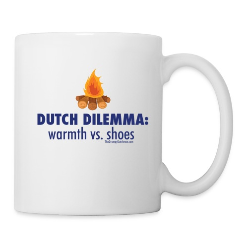 05 Dutch Dilemma blue lettering - Coffee/Tea Mug
