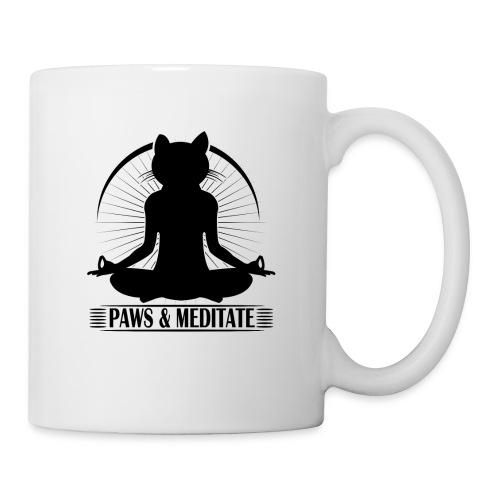 Paws and Meditate Black - Coffee/Tea Mug