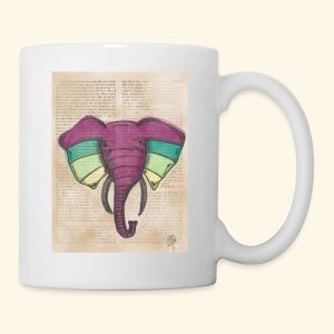 Elephant Water Color Face - Coffee/Tea Mug