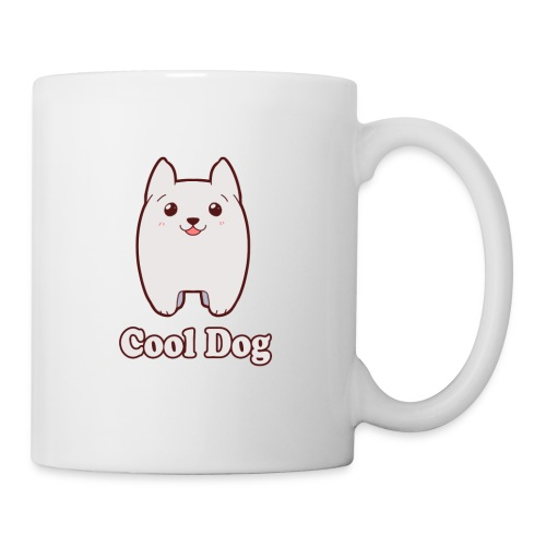 Cool Dog Fluffy Dog Logo - Coffee/Tea Mug