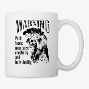 Warning: Punk music may cause creativity - Coffee/Tea Mug