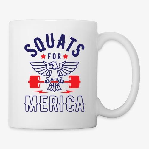 Squats For Merica v2 - Coffee/Tea Mug