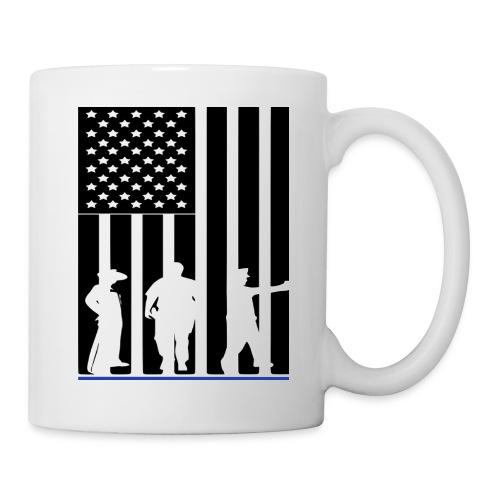 LAW ENFORCEMENT TRIO FLAG SHIRT - Coffee/Tea Mug