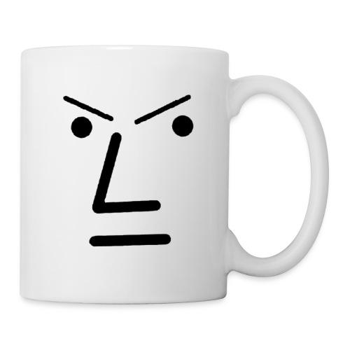 Grey Face Design Angry - Coffee/Tea Mug