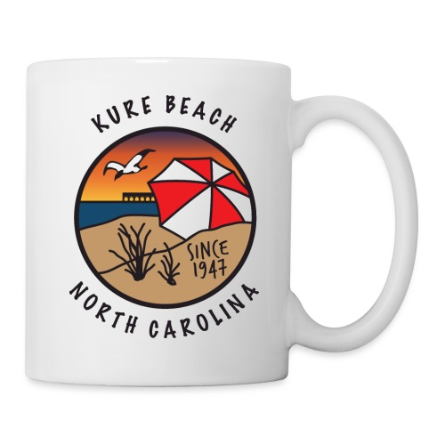 Kure Beach Sunrise-Black Lettering-Front Only - Coffee/Tea Mug