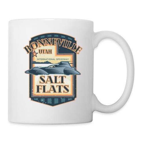 Bonneville Salt Flats Utah Land Speed Retro Design - Coffee/Tea Mug