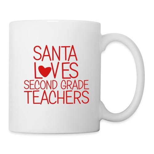 Santa Loves Second Grade Teachers Christmas Tee - Coffee/Tea Mug