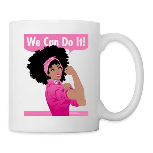 GlobalCouture2 WeCanDoItBreastCancer Poster RGB pn - Coffee/Tea Mug
