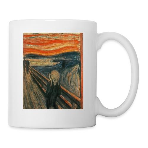 The Scream (Textured) by Edvard Munch - Coffee/Tea Mug