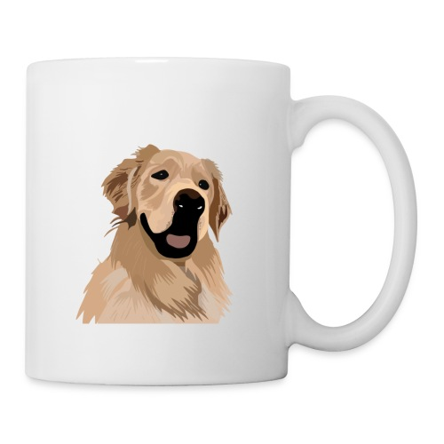 Hand illustrated golden retriever print / goldie - Coffee/Tea Mug