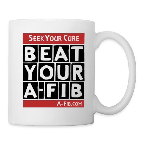 beatyourafib seek your cure block letters - Coffee/Tea Mug