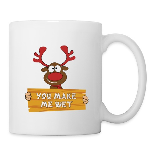 Red Christmas Horny Reindeer 2 - Coffee/Tea Mug