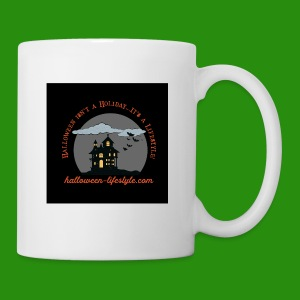 Halloween Lifestyle Haunted House Logo - Coffee/Tea Mug