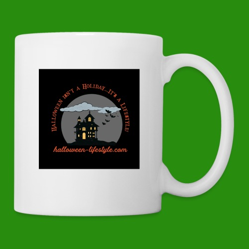 Halloween Lifestyle Haunted House Logo - Coffee/Tea Mug
