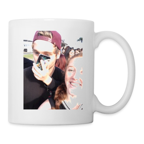 Luke Hemmings with a phone in his face - Coffee/Tea Mug