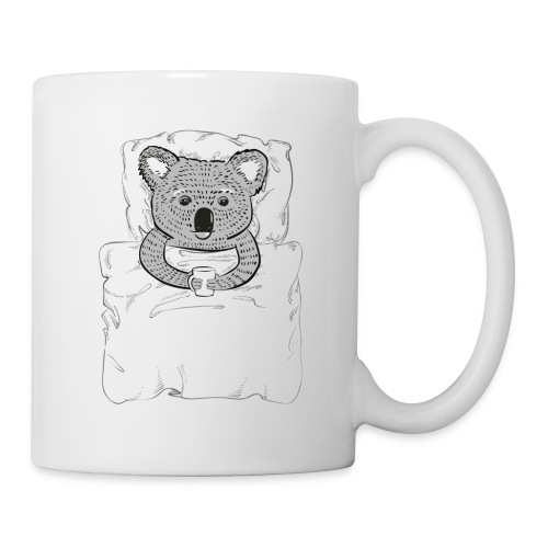 Print With Koala Lying In A Bed - Coffee/Tea Mug