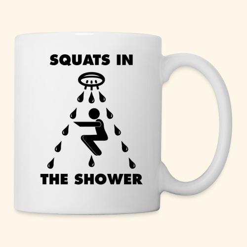 SQUATS IN THE SHOWER LOGO FINAL - Coffee/Tea Mug