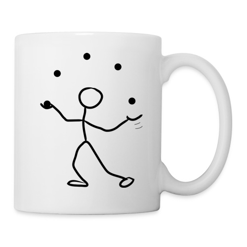 Stickman Juggler on Light Shirt - Coffee/Tea Mug