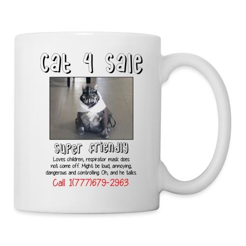 cat4sale2nobg - Coffee/Tea Mug