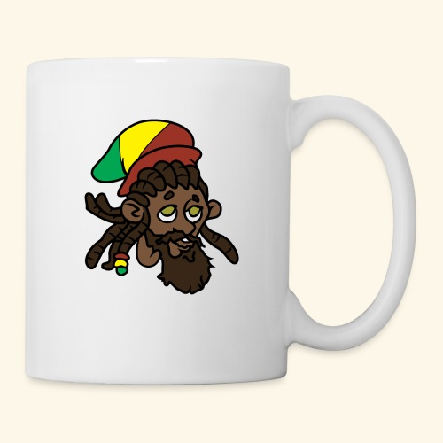 Rasta Ricky Head Logo - Coffee/Tea Mug