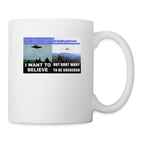 tshirt i want to believe with back Crew Logo - Coffee/Tea Mug