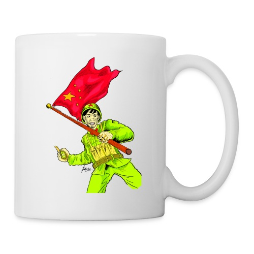 Chinese Soldier With Grenade - Coffee/Tea Mug
