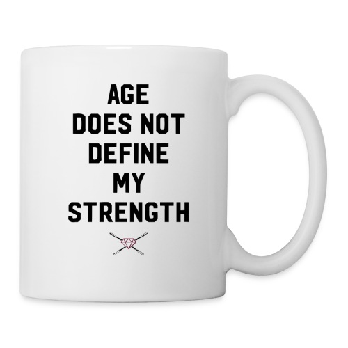 age strength black - Coffee/Tea Mug