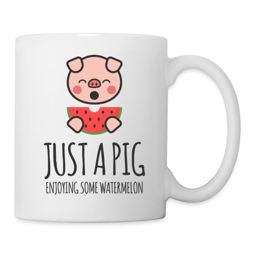 Just A Pig Enjoying Some Watermelon - Coffee/Tea Mug