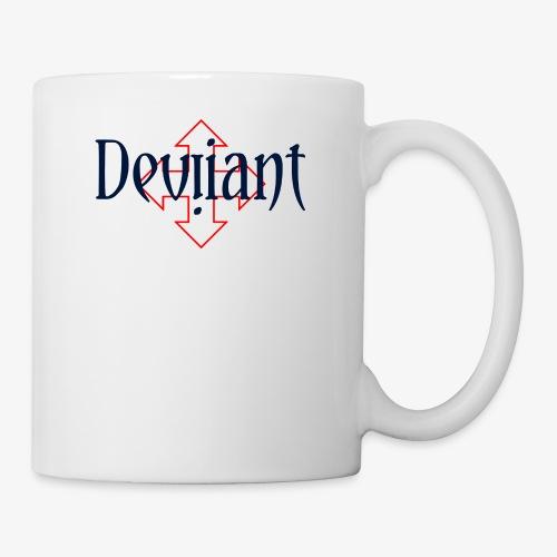 Deviiant blk center outl - Coffee/Tea Mug