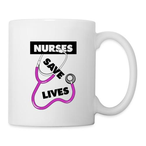 Nurses save lives pink - Coffee/Tea Mug
