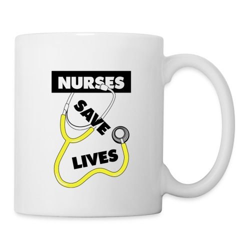 Nurses save lives yellow - Coffee/Tea Mug
