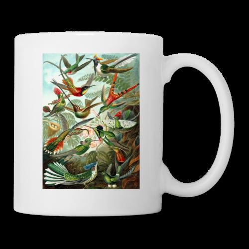 Exotic Bird Scene Vintage Print Colorful - Coffee/Tea Mug