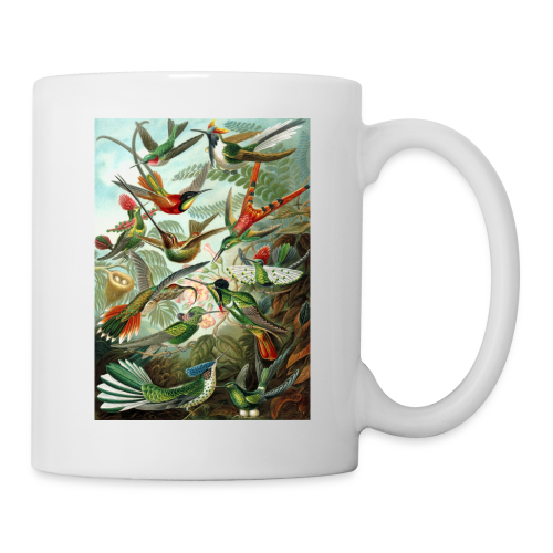 Exotic Bird Scene Vintage Print Colorful - Coffee/Tea Mug