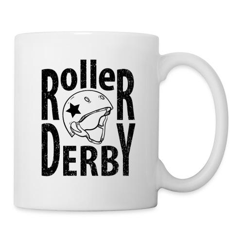 Roller derby helmet typography - Coffee/Tea Mug