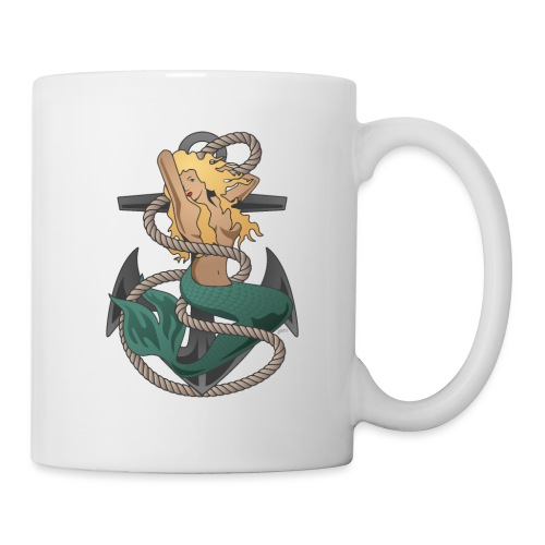 Mermaid with anchor and rope - Coffee/Tea Mug