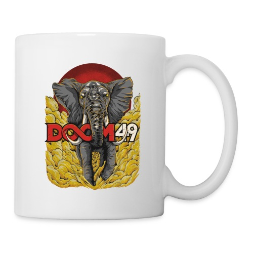 Yellow Smoke Elephant by DooM49 - Coffee/Tea Mug