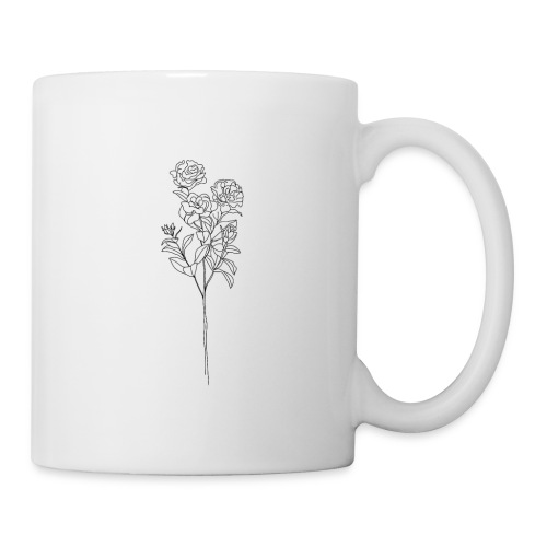 Minimal Floral Line Art Print - Coffee/Tea Mug