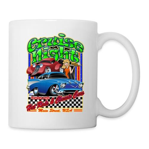 Cruise Night Hot Rods & Classic Cars Illustration - Coffee/Tea Mug