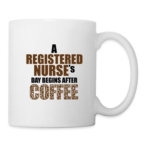 Register Nurse Day Begins After Coffee - Coffee/Tea Mug