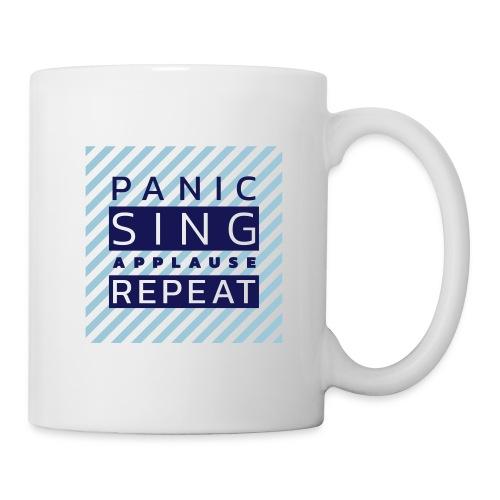 Panic — Sing — Applause — Repeat (duotone) - Coffee/Tea Mug