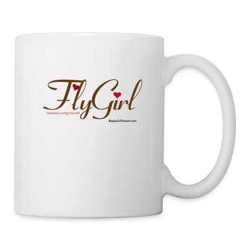 FlyGirlTextGray jpg - Coffee/Tea Mug