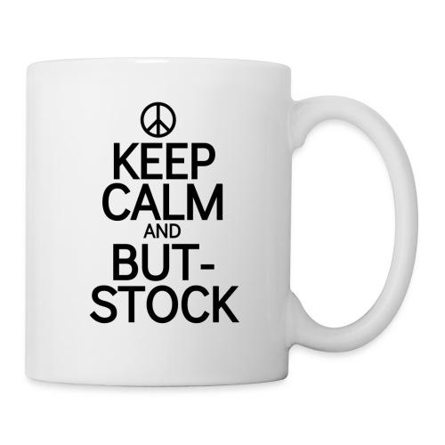 Keep But blk peace sign - Coffee/Tea Mug